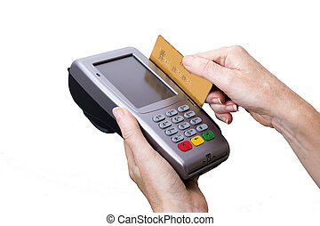payment with credit card isolated