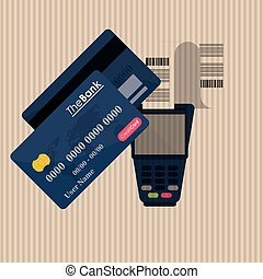 payment with dataphone design, vector illustration