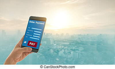 Payments concept. Mobile banking network
