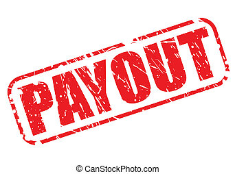 Payout red stamp text on white