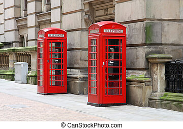 Payphone - Birmingham red telephone boxes. West Midlands,...