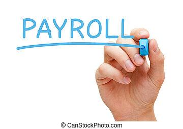 Payroll Blue Marker