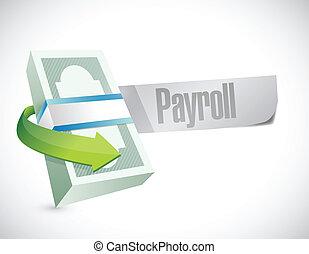 payroll message browser illustration design