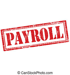 Grunge rubber stamp with text Payroll, vector illustration