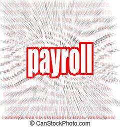 Payroll word cloud