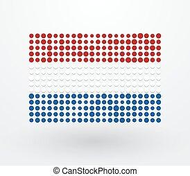 pays-bas, d, haut, drapeau, fait, petit