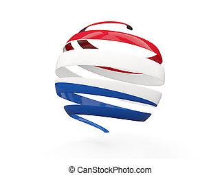 pays-bas, drapeau, rond, icône