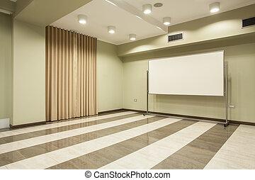pays boisé, hôtel, -, salle réunion