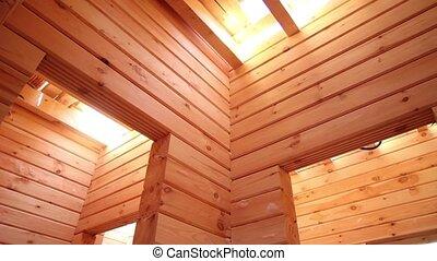 pays, construction, bois, maison