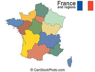 pays, departements francais