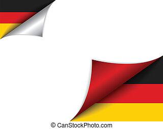 pays, drapeau, allemagne, page tournant