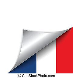 pays, drapeau, page tournant, france