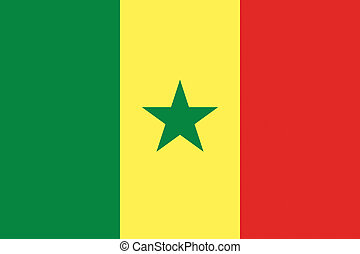 pays, drapeau, sénégal, illustration, africaine