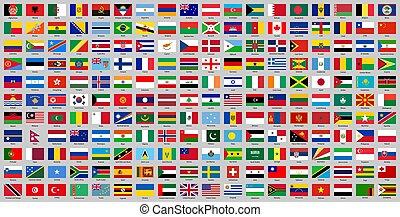 pays, drapeaux, tout, national