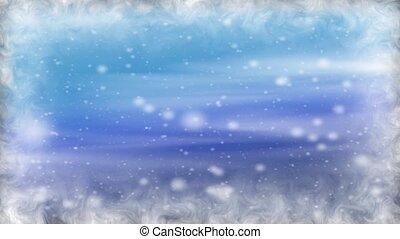 pays merveilles, hiver, hd, boucle