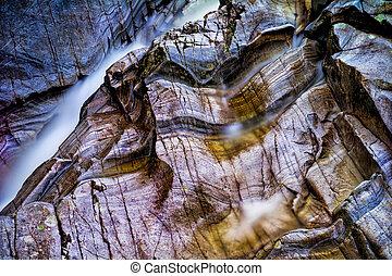 pays montagne, bruar, ecosse, chutes
