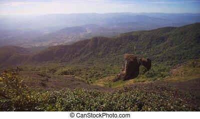 pays montagne, calcaire, rock., thaïlande