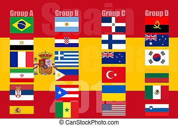 pays, nacional, drapeaux