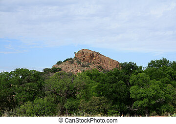 paysage, à, rocher enchanté, parc