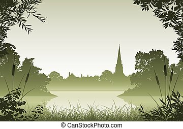 paysage, église