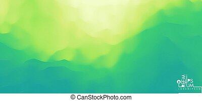 paysage abstrait, vert, nature, montagneux, terrain.,...