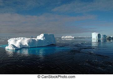 paysage, antarctique, iceberg