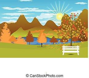 paysage automne, fond