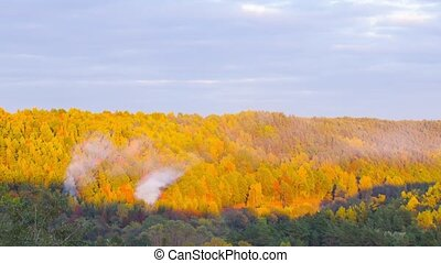 paysage automne, timelapse