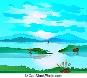 paysage, beau, environnement, nature