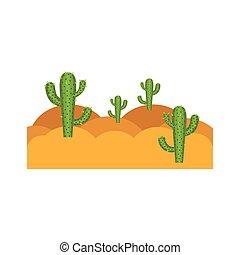 paysage, blanc, cactus, désert, fond