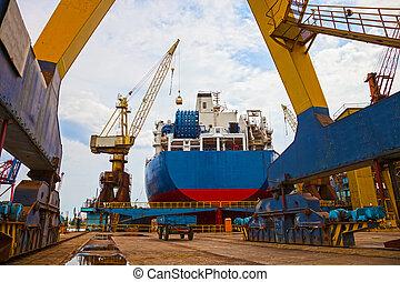 paysage, chantier naval