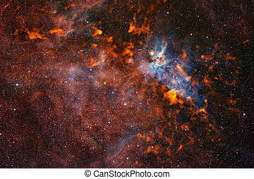 paysage., cosmique, nebula., éléments, image, ceci, nasa, meublé