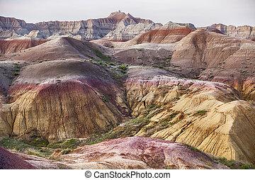 paysage, couleurs, dans, badlands parc national