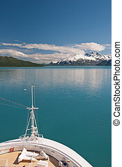 paysage, croisière bateau, arc