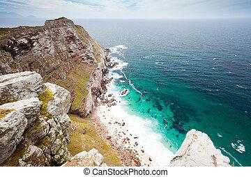 paysage, de, cap, point, afrique sud