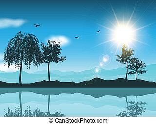 paysage, fond