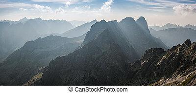 paysage, gammes, montagne