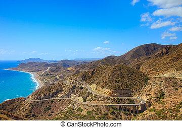 paysage., gata, cabo, parque, de, andalousie, almeria.