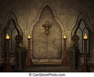paysage, gothique