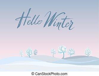 paysage hiver, arrière-plan.