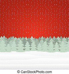 paysage hiver, noël
