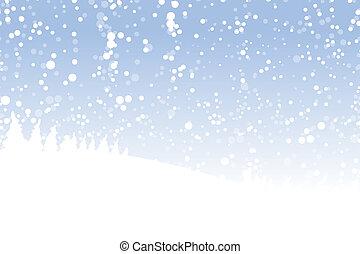 paysage hiver, pour, ton, conception