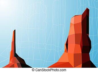 paysage, image, arrière-plan.