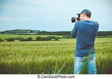 paysage., image, prendre, photographe, scénique