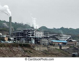 paysage, industriel, porcelaine