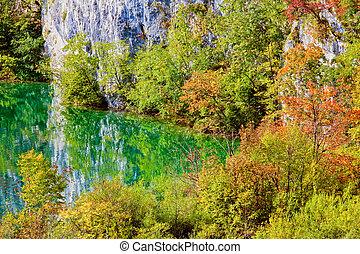 paysage, lac montagne