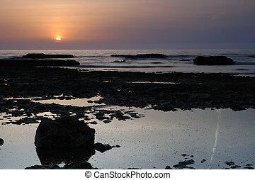 paysage marin coucher soleil