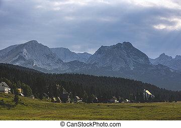 paysage, montagne, été, balkanique, europe, jour