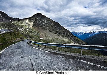 paysage montagne, route