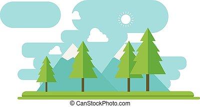 paysage montagne plat montagne style hiver plat flag vecteur search clip art. Black Bedroom Furniture Sets. Home Design Ideas